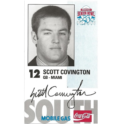 1999 Senior Bowl #12 Scott Covington