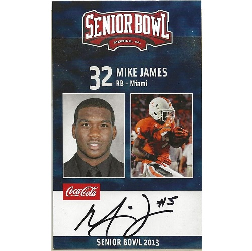 2013 Senior Bowl #42 Mike James AUTO