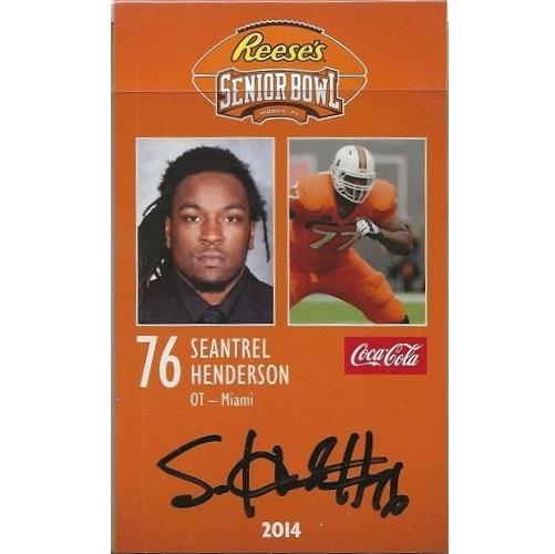 2014 Senior Bowl #39 Seantrel Henderson AUTO