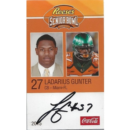 2015 Senior Bowl #42 Ladarius Gunter AUTO
